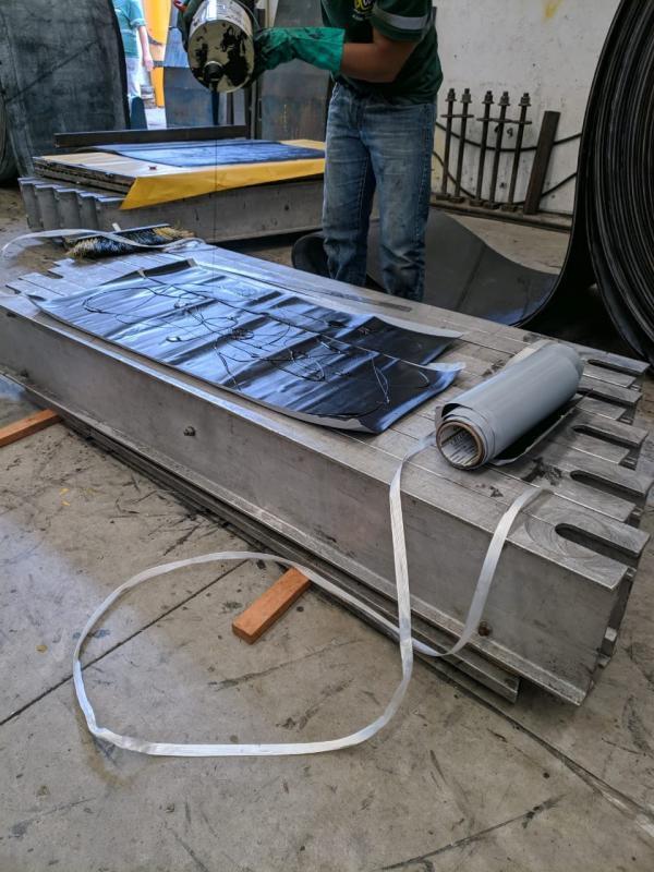 Vulcanização de correias transportadoras a frio