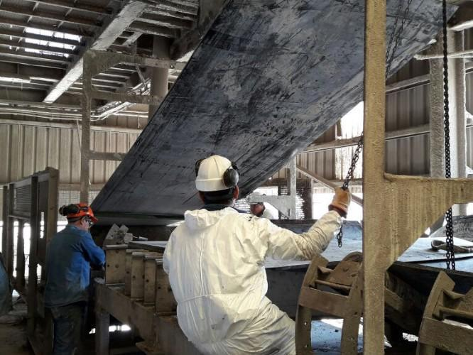 Vulcanização de correias transportadoras a quente