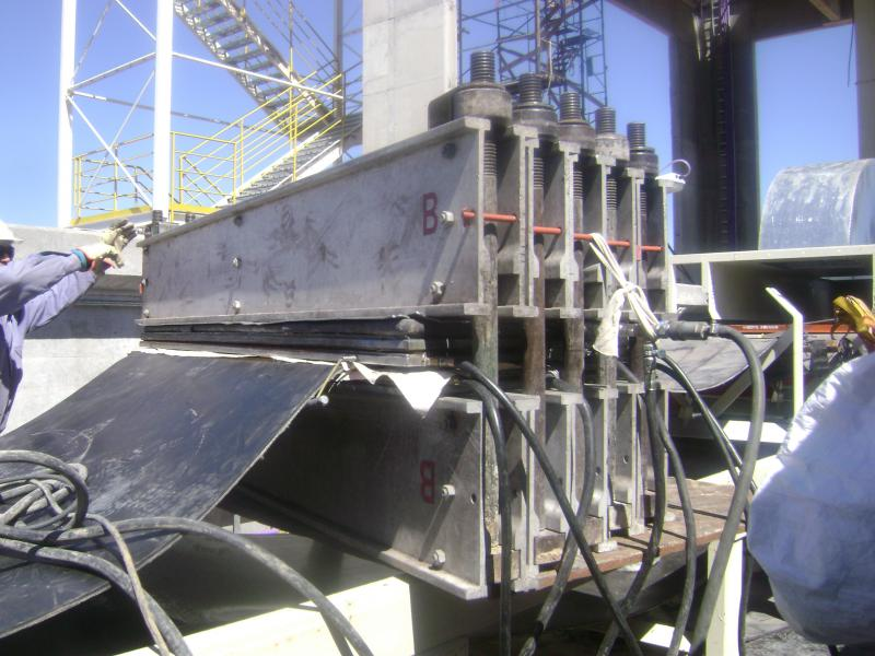 vulcanização de correias transportadoras de borracha e cabo de aço